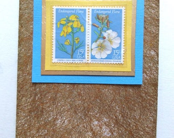 flower stamps card