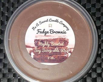Fudge Brownie 9 oz. Highly Scented Soy Scoop-able Wax