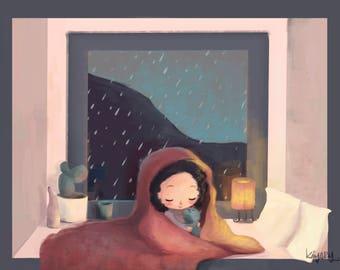 Cozy Rainy Day Giclée Print
