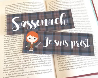 Outlander Bookmarks - Je suis prêst and Sassenach - Outlander Bookmarks - Jamie Fraser, Claire Fraser - Laminated bookmarks