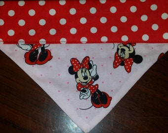 Dog Bandana made fro Minnie mouse Fabric