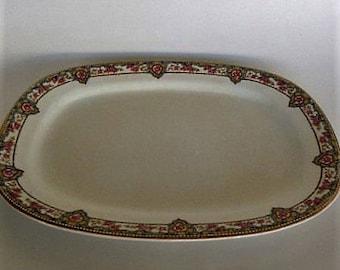 "Oval Platter 11""  Carrollton china Pink Rose Platter"