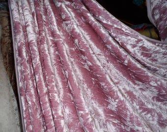 Dusky pink ice crush stretch velvet
