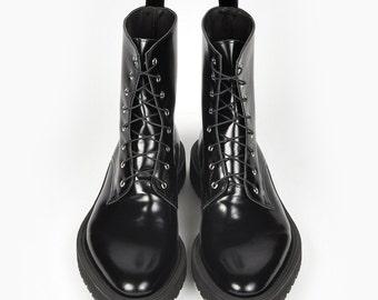 Black Leather Boots, Women Shoes, Combat Boots, Womens Boots, Leather Shoes, Black Shoes, Leather Boots, Gothic Boots, Women Leather Shoes