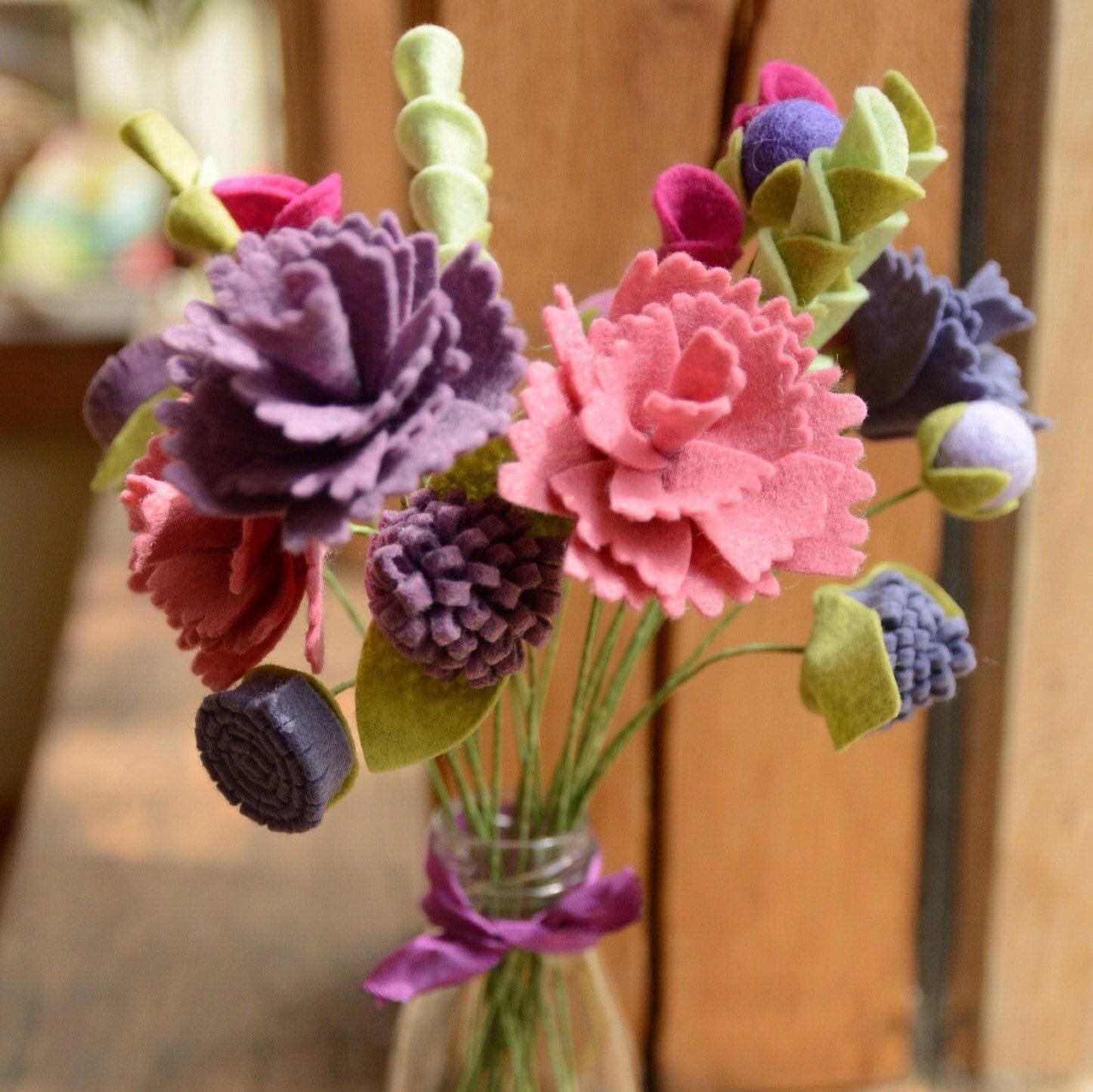 Felt Flower Bouquet Tutorial Images - Flower Wallpaper HD