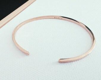 P I X I U | Minimal Bracelet in Silver or Bronze