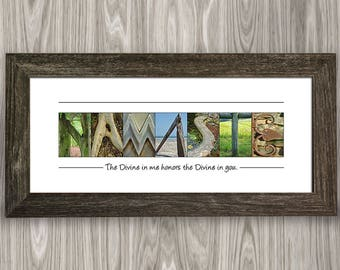 Namaste, Namaste Sign, Namaste Decor, Namaste Wall Art, Yoga Decor, Yoga Gift, Yoga Studio Decor, Yoga Wall Decor, Boho Decor, Yoga Lovers