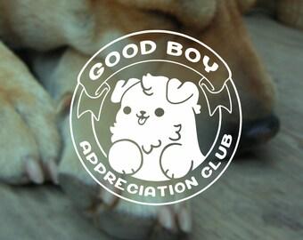 Kawaii Good Boy Appreciation Club Dog Vinyl Decal