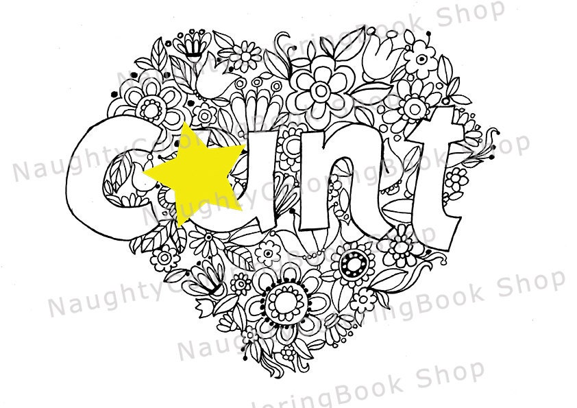 Cnt swear words printable coloring pages swear word for Coloring pages of pussy