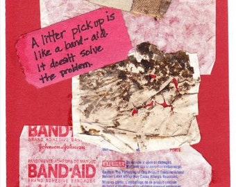 Monhegan Island Band-aid Litter Greeting Card