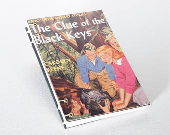 Nancy Drew recycled journal, recycled notebook, upcycled notebook, postcard journal, eco friendly gift, gift for teacher