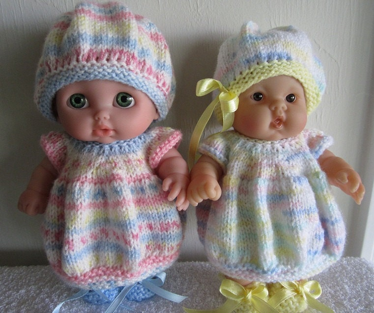 Baby Doll Knitting Pattern Bubble Dress Set for 8 inch Lots to Love ...