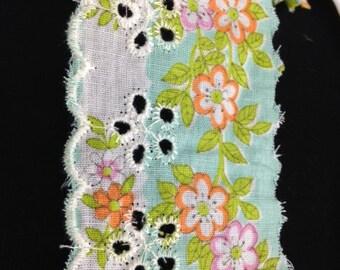Vintage Floral Eyelet Lace Trim!