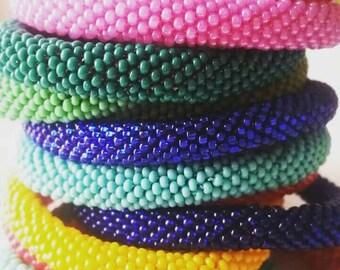 Handmade beaded crochet rope bracelets