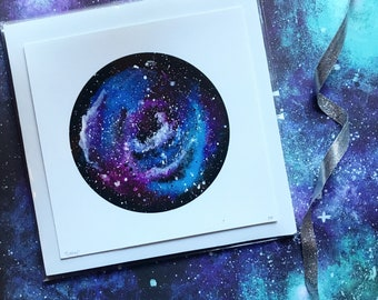 Galaxy art, galaxy print, galaxy painting, space art, outer space, stars, art print, home decor