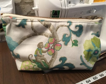 Handmade Large make up bag, cosmetic bag