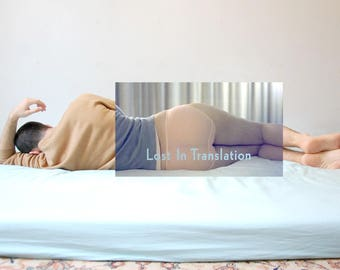 Photocollage of my body with scene of Lost in Translation