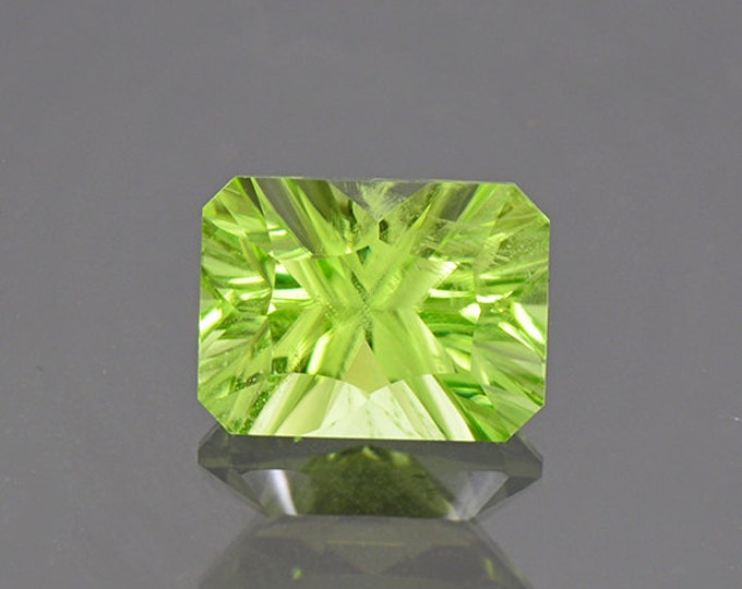 Bright Mint Green Peridot Gemstone from Pakistan 4.24 cts.