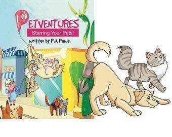 Personalized Pet Book, saint bernard dog, saint bernard print, st bernard dog, saint bernard, st bernard, st bernard art,