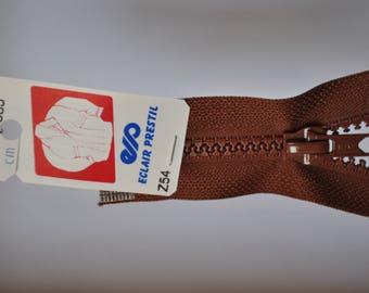 35cm separable zipper nutmeg Brown Z54 985-mesh plastic molded