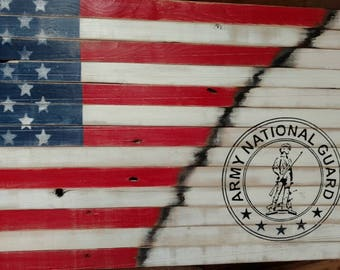 Army National Guard Pallet Flag Sign