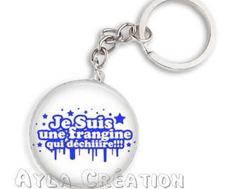 Cabochons glass 25mm S1_12 sister keychain