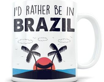Brazil souvenirs, Brazil mug, Brazil gift for women and men, Brazil vacation, I love Brazil, Brazil travel gift