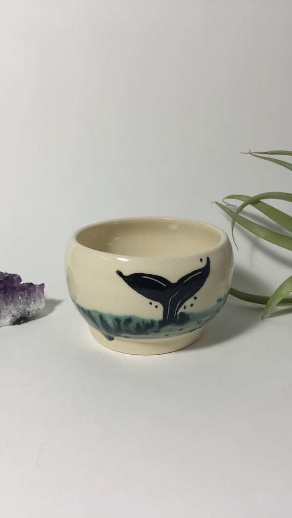 Whale wine cup