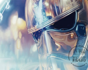 Captain Phasma's Last Stand / Digital Painting / Star Wars / Free US Shipping
