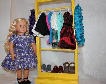 Doll Clothes Rack,Clothes Rack,Clothes Storage,Doll Furniture,18 Inch Doll