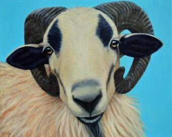 American Blackbelly Sheep Painting - Original Oil Painting - Sheep Art - Sheep Painting - All Proceeds Benefit Animal Charity