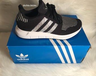 Adidas Swift Run Made with Swarovski Crystals - Black with Silver