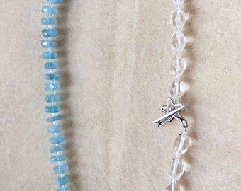 Aquamarine and crystals