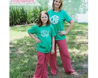 Womens Personalized Christmas Pajama Set | Mommy and Me | Matching PJs