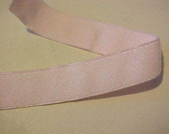 ELASTIC Plush BABY PINK 3/4 inch Lingerie Strap Waistband Headband 5 yds.
