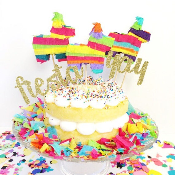 Mini Pinata Wedding Cake Topper