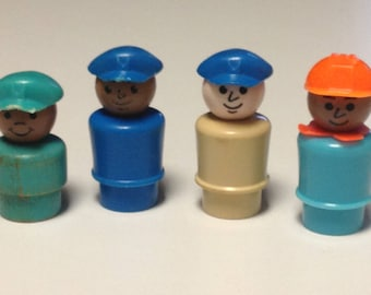 Vintage Fisher Price Little People--Working Men 1970s