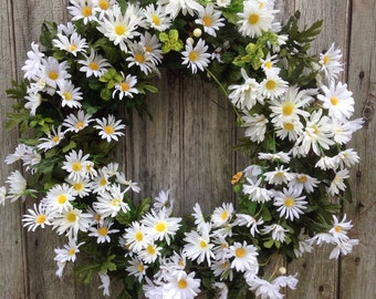 Daisy Wreath, Summer Wreath, Spring Wreath, Front Door Wreath, Farmhouse Decor, Mother's Day