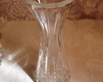 Delicate Crystal Vase Hand Cut