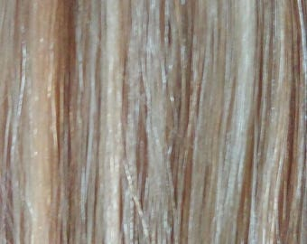 Remy 100% Human Hair Extension Clip in Streaks Straight - Bleach Blonde Mix