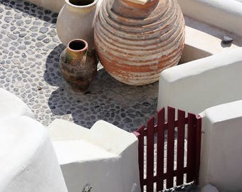 Santorini Vessels, Oia Santorini, Color Image, Photography, MariaSotoPhotography, Giclee Print,Fine Art