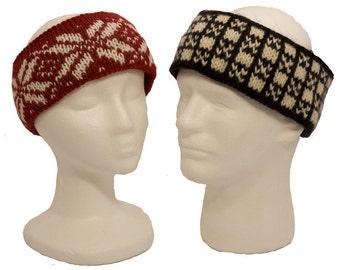 Easy Fair Isle Headbands Knitting Pattern - Two Variations - PDF