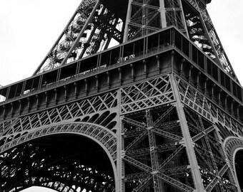 Eiffel Tower, Paris - Black and White Fine Art Photograph - Eiffel Ironwork