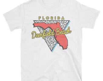 Deerfield Beach T Shirt Florida Souvenir Triangle