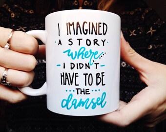 Westworld mug, damsel, tv series mug, feminist mug