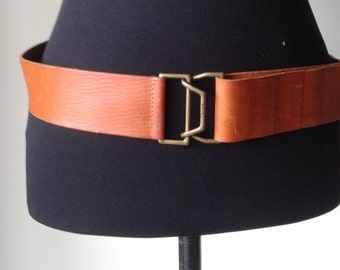 CHLOÉ belt, leather belt, made in Italy, camel brown   leather belt