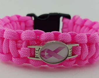 Breast Cancer Awareness Bracelet Wristband - 10% of All Sales Goes to Charity