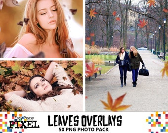 LEAVES OVERLAYS, Leaves Overlays, Photoshop Overlays, Autumn Leaves, Autumn Overlays, Falling Leaves, Photoshop Leaves, Fall, Autumn