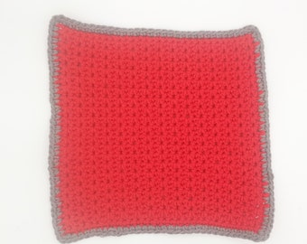READY to ship: cloth, dish cloth, household linen, rag - size large - Red/clear (1 item)