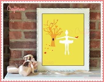 Fall Ballet Digital Fine Art Print by Crafterina -Wall Art - 8x10 - PDF Download - Digital Art